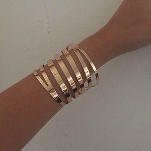 🔸 Gold Statement Cuff Bracelet 🔸